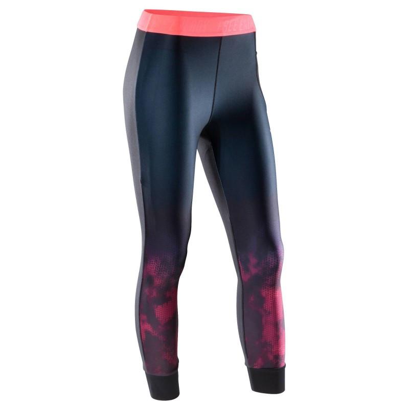 Леггинсы для фитнеса женские Domyos 7/8 fitness 500