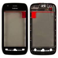 Сенсорный экран для мобильного телефона Nokia 710 Lumia, с передней панелью, черный