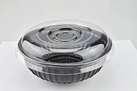 Салатник с крышкой ПС-210ДЧ черное, 500мл, 500 шт/уп