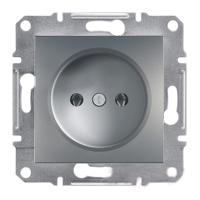 Розетка без заземления (сталь) Asfora Schneider Electric