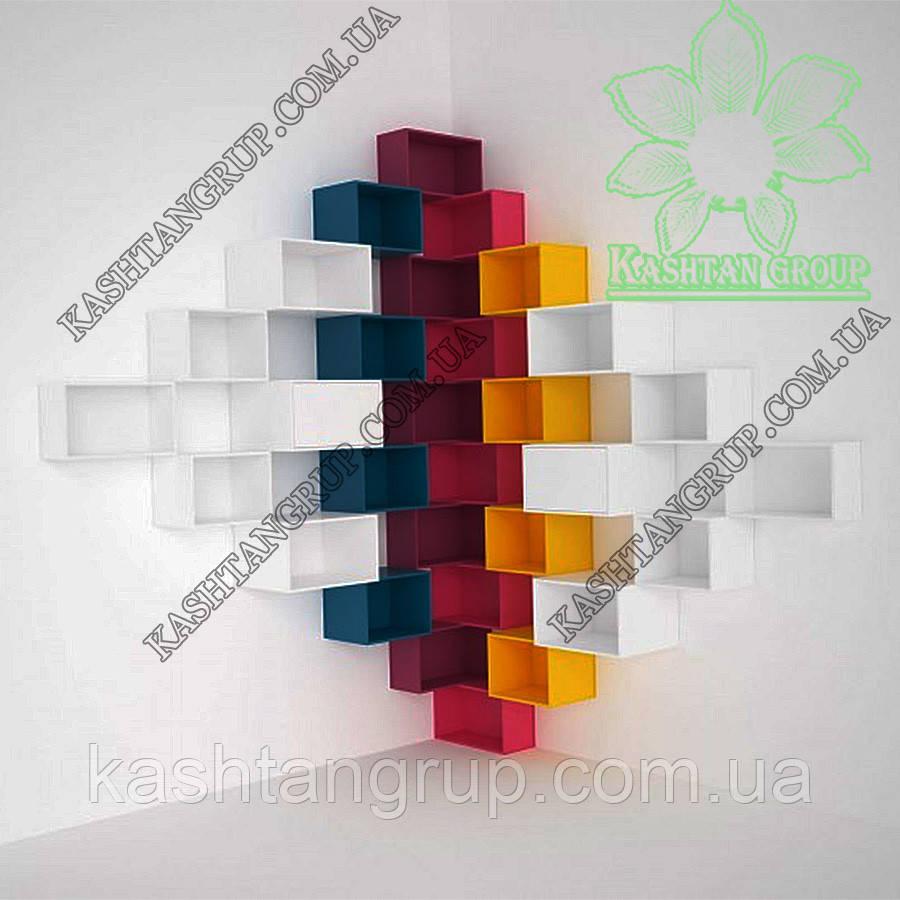 Угловая полка для компакт-дисков и DVD-дисков, цветная