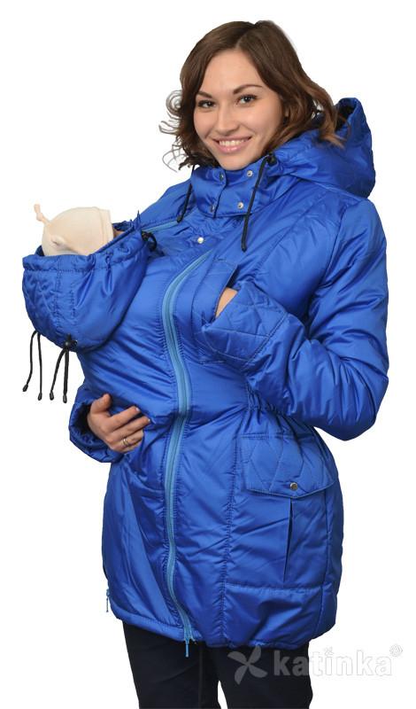 Демисезонная куртка для беременных и слингоношения 4в1, королевский синий
