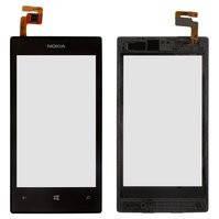 Сенсорный экран для мобильных телефонов Nokia 520 Lumia, 525 Lumia, с рамкой, черный