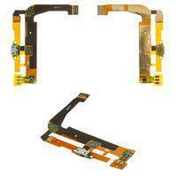 Шлейф для мобильного телефона Alcatel One Touch 7047 POP C9 Bluish, коннектора зарядки, с компонентами