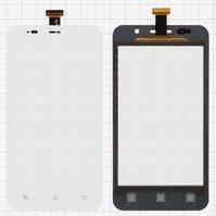 Сенсорный экран для мобильных телефонов Pioneer E60W; Prestigio MultiPhone 4322 Duo, белый, #TF0200C-YNE B088-A600 FPC