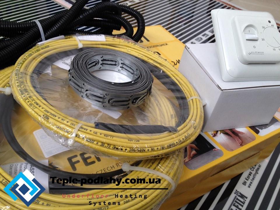 Нагрівальна секція двожильного екранованого кабелю IN-TERM, (готовий до монтажу) 2.7 м.кв