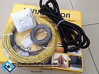Кабель двожильний Ін-Терм Чехія для теплої підлоги (в комплекті з терморегулятором) 3.2 м.кв, фото 1