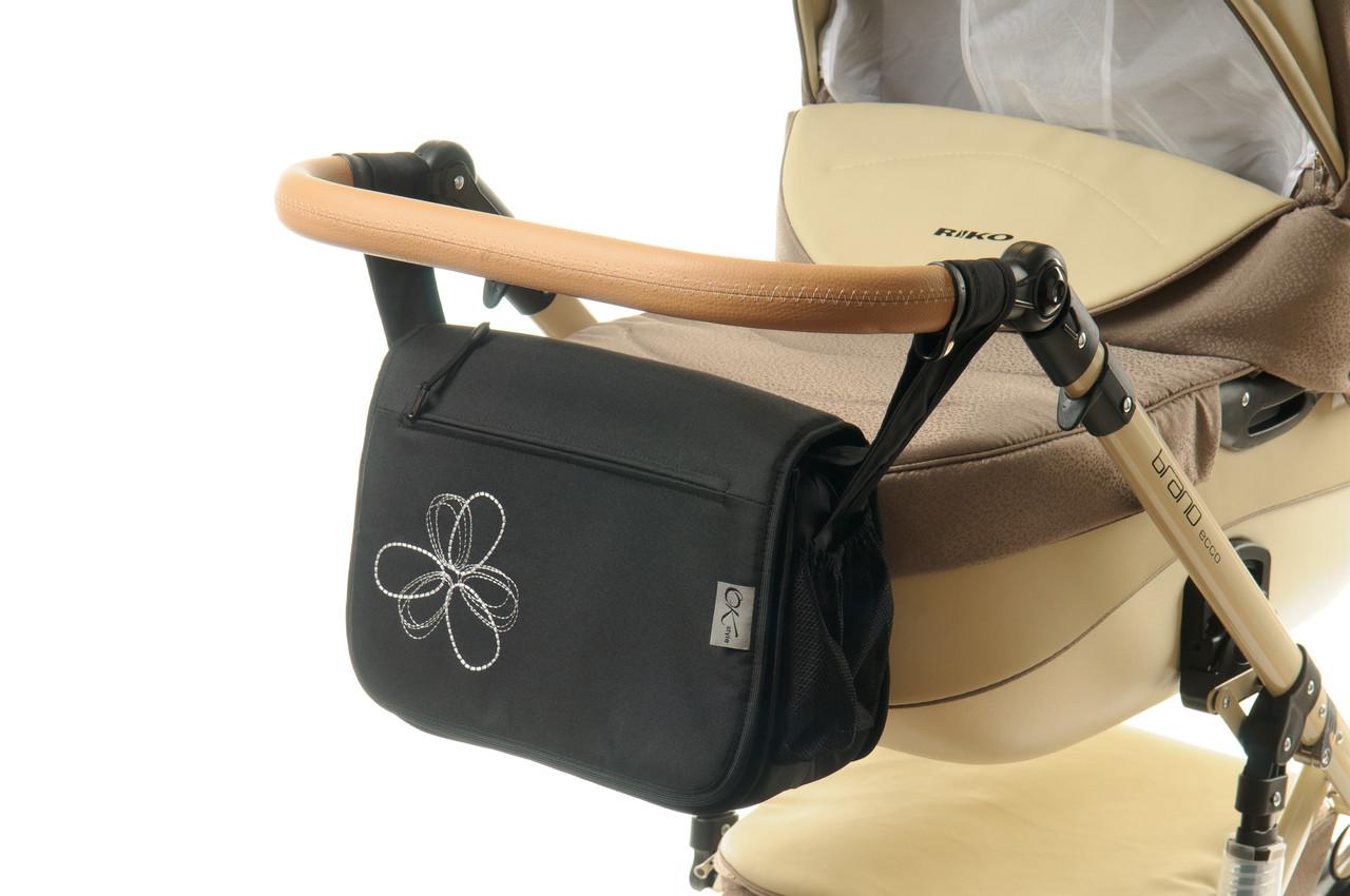 Сумка на коляску Ok Style Цветок (Черная)