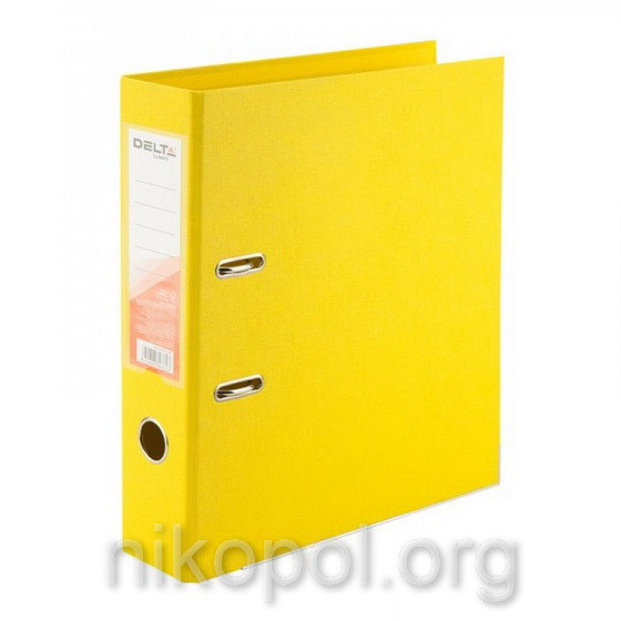 Сегрегатор (папка-регистратор) Delta by Axent, желтая 5 см.