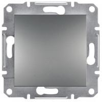 Вимикач прохідний 1-клавішний (сталь) Asfora Schneider Electric