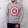 Мужская теплая футболка Captain america реплика