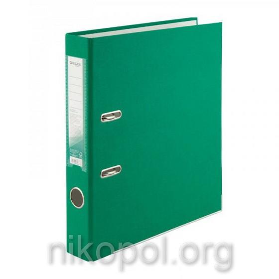 Сегрегатор (папка-регистратор) Delta by Axent, зеленая 5 см.