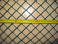 Сетка пластиковая для забора яч.30*30мм, ромб 1,5м*10м (зеленый, черный)