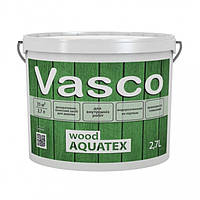Vasco wood AQUATEX 2,7 л декоративна просочення для дерева в кольорі