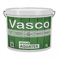 Vasco wood AQUATEX 9 л декоративна просочення для дерева в кольорі