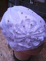 шапочка ажурная для девочки