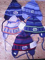 Весенняя вязанная шапочка для мальчика
