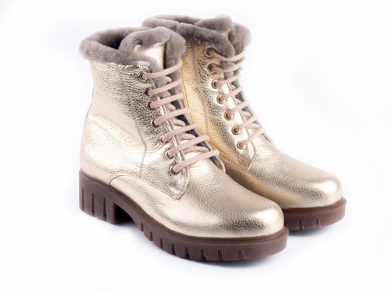 Ботинки Etor 6623-21554 39 золотистые