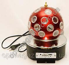 Обертається куля. Диско лампа червона S31
