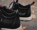 Мужские зимние ботинки Native Shoes Fitzsimmons  (black/white), native, натив черные, фото 5