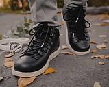Мужские зимние ботинки Native Shoes Fitzsimmons  (black/white), native, натив черные, фото 4