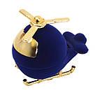 Футляр бархатный для кольца Вертолет синий, фото 2