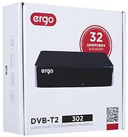 Цифровой тюнер приставка ergo dvb-t2 302 с пультом