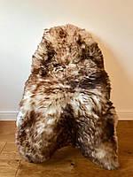 Шкура овечья коричневая с окрашенными кончиками ворса
