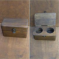 Деревянная шкатулка для колец и украшений № 25