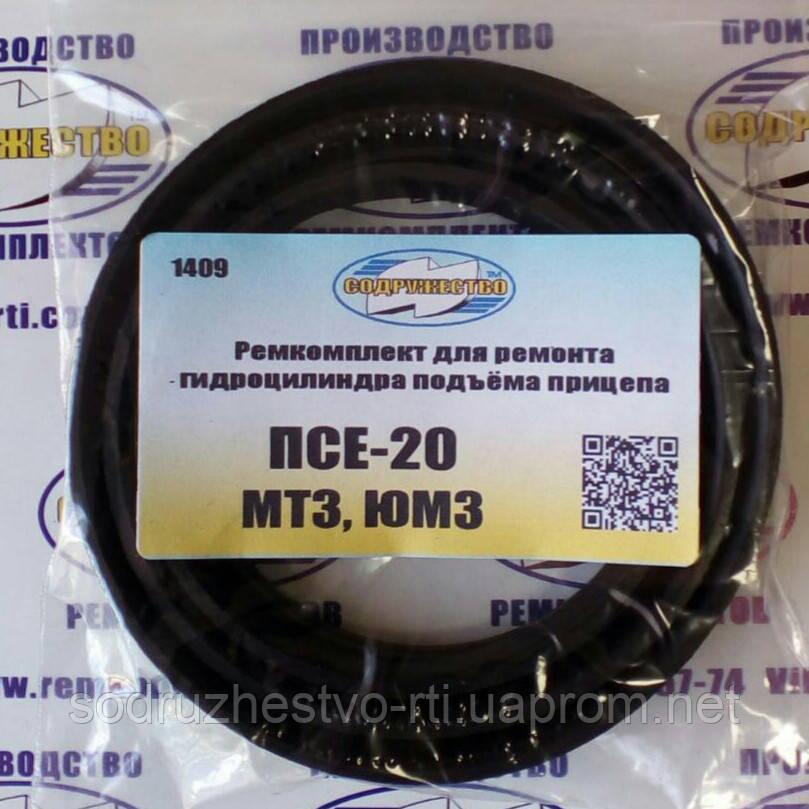 Ремкомплект гидроцилиндра подъёма прицепа ПСЕ-20 трактор МТЗ / ЮМЗ