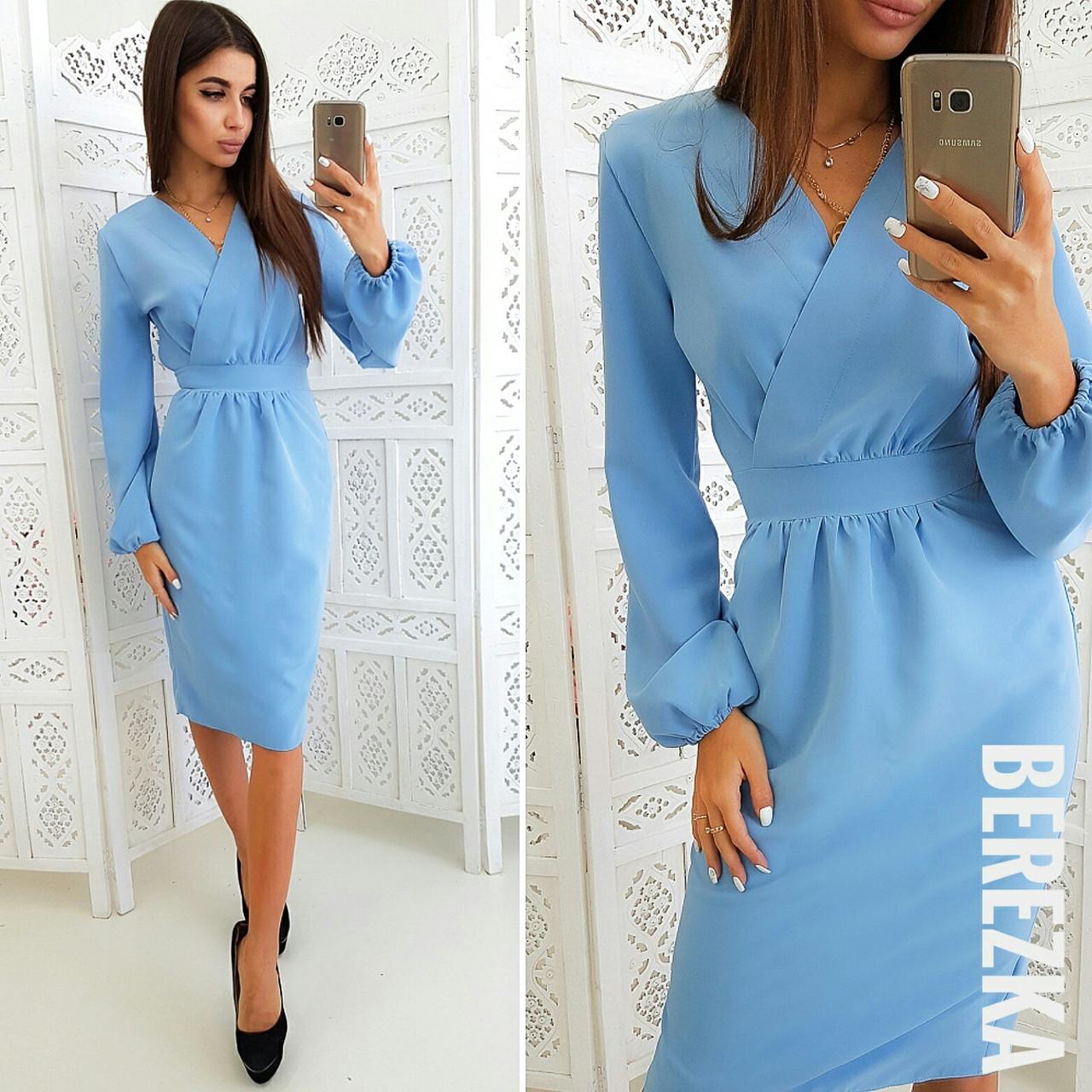 eebe0a90482 Красивое платье миди с пышным рукавом - ООО