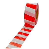 Лента оградительная красно-белая 100мм/200м