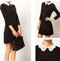 Платье мини кружевной  воротник