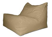 Бежевое бескаркасное кресло-лежак из ткани Оксфорд