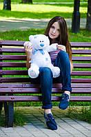 Белый плюшевый мишка Тедди 60 см