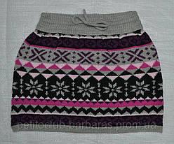 Детская юбка трикотажная Этно розовая (Quadrifoglio, Польша)