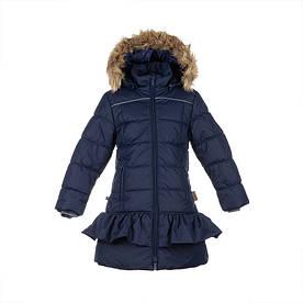 Зимнее термопальто для девочки 6-12 лет, р. 116-152 WHITNEY ТМ HUPPA синее 12460030-00086