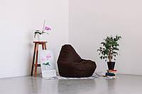 Темно-шоколадное кресло-мешок груша 120*90 см из ткани Оксфорд