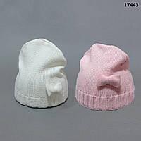 Вязаная шапочка для девочки. 35-38 см