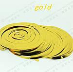 Золотая гирлянда из дождика - 6шт., фото 3