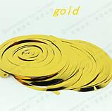 Золота гірлянда з дощику - 6шт., фото 3
