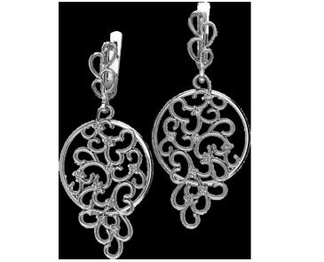Серьги серебряные Curls 41207