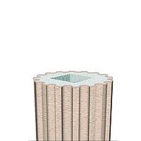 Декоративная колонна фасадный декор Prestige Decor тело с каннелюрами LC 102-21 Half (2.00м)