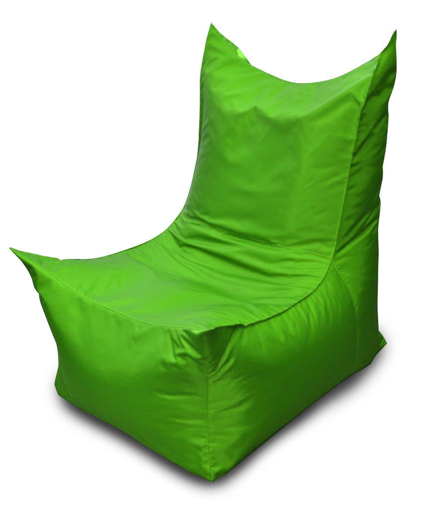 Салатовое бескаркасное кресло трон из Оксфорда
