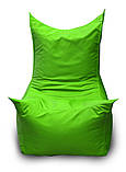 Салатовое бескаркасное кресло трон из Оксфорда, фото 2