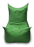 Зеленое бескаркасное кресло трон из Оксфорда, фото 2