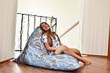 Кресло-мешок Пирамида из мебельной ткани Катони Джинс, фото 6