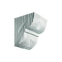 Декоративная консоль из полиуретана рустик EQ 016 classic белая 12х12
