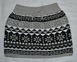 Детская юбка трикотажная Этно серая (Quadrifoglio, Польша)