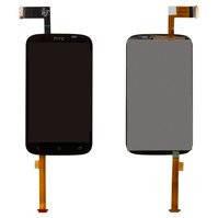 Дисплей для мобильного телефона HTC T328e Desire X, черный, с сенсорным экраном